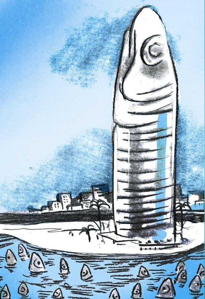 El rascacielos 'boquerón'